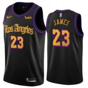 LeBron James Los Angeles Lakers Black NBA Jersey